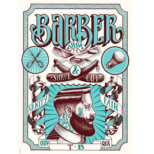 PLACA-DECORATIVA-PARA-BARBEARIAS-HAIR-STYLE-BARBER-SHAVE-AND-CUT------------------------------------