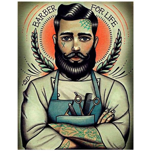 PLACA-DECORATIVA-PARA-BARBEARIAS-QUYEN-DIHN--BARBERS-FOR-LIFE---------------------------------------