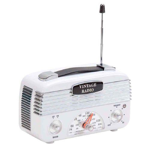 Radio-Vintage-Moderno-AM-FM-Branco------------------------------------------------------------------