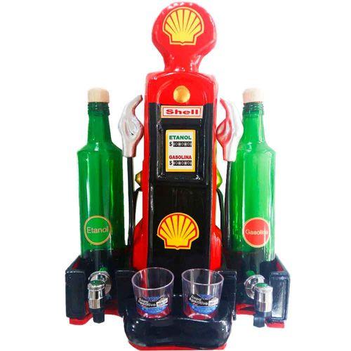 Pingometro-Bomba-de-Combustivel-2-Garrafas-Vermelho-Shell-------------------------------------------
