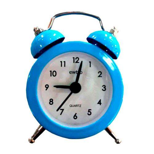 Mini-Relogio-Despertador-Retro-Azul-----------------------------------------------------------------
