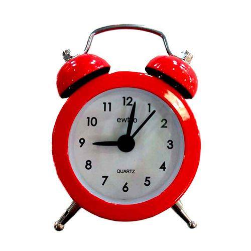 Mini-Relogio-Despertador-Retro-Vermelho-------------------------------------------------------------