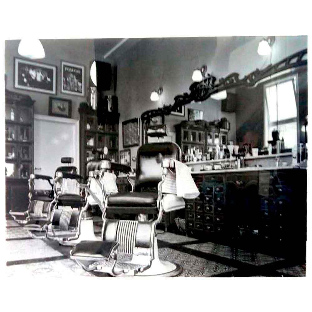 Miniatura metal retro vintage cadeira barbeiro barbearia r 129 70 - Quadro Vidro Barbearia Cadeira
