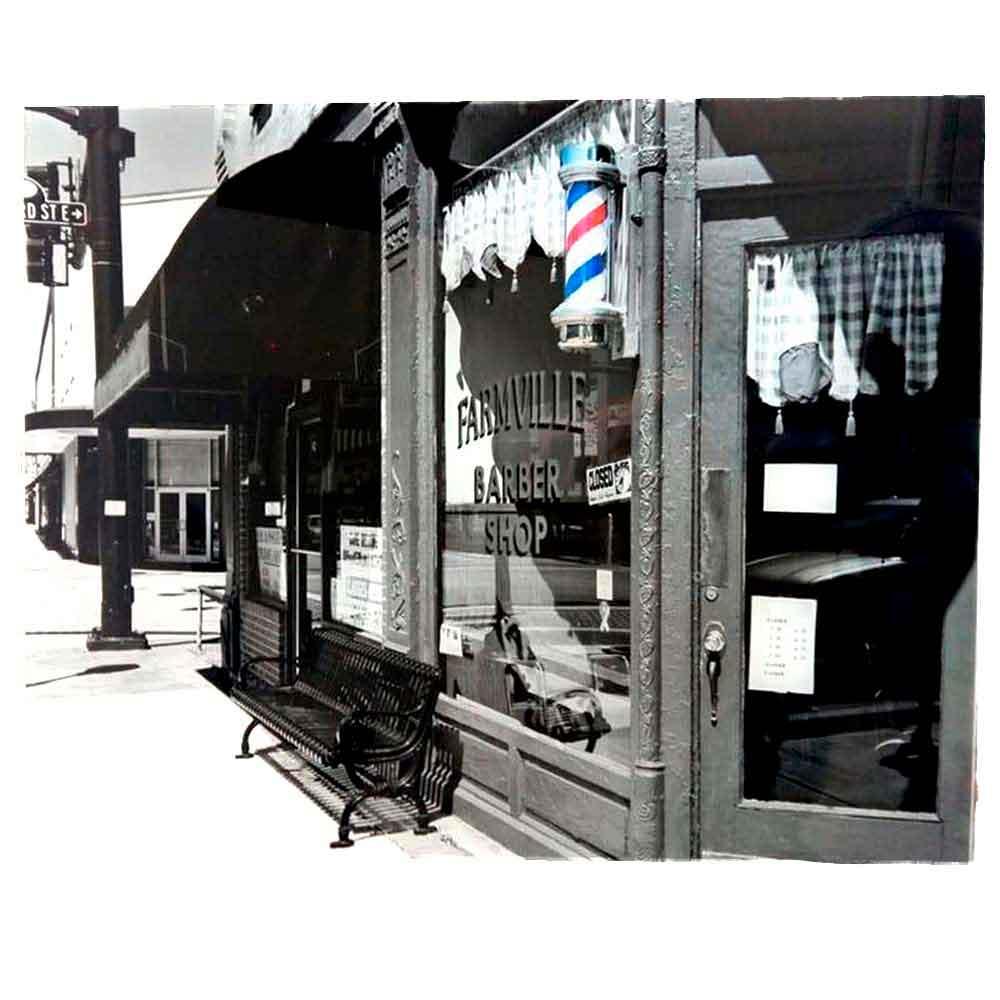 Miniatura metal retro vintage cadeira barbeiro barbearia r 129 70 - Quadro Vidro Barbearia Fachada