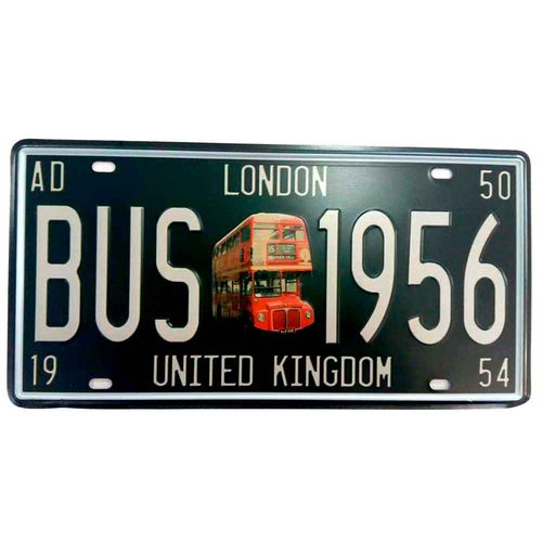 Placa-de-Carro-London-Bus---------------------------------------------------------------------------