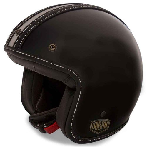 Capacete-Old-School-Strip-Light-Preto-Fosco---------------------------------------------------------