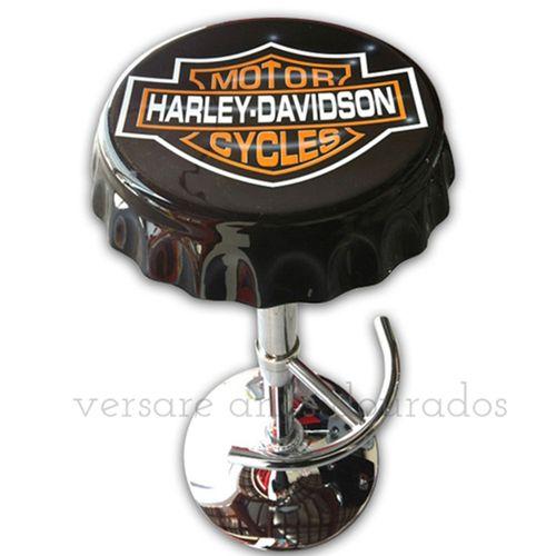 Banqueta-Giratoria-Tampa-De-Garrafa-Harley-Davidson-Motor-Cycle