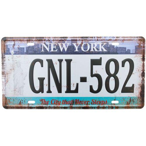 Placa-Carro-Decorativa-De-Metal-New-York-Gnl-582