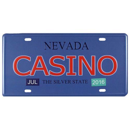 Placa-Carro-Decorativa-De-Metal-Nevada-Casino