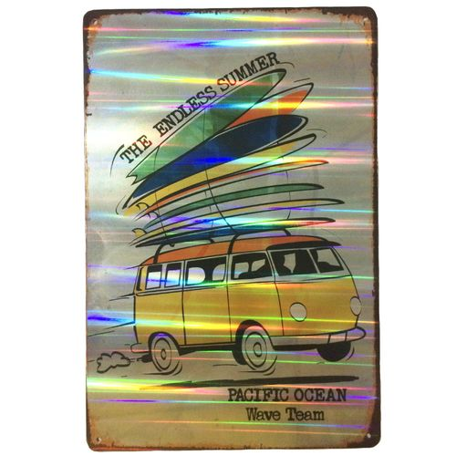 Placa-Refletiva-3d-De-Metal-Kombi-The-Endless-Summer
