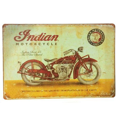 Placa-Decorativa-De-Metal-Indian-Motorcycle