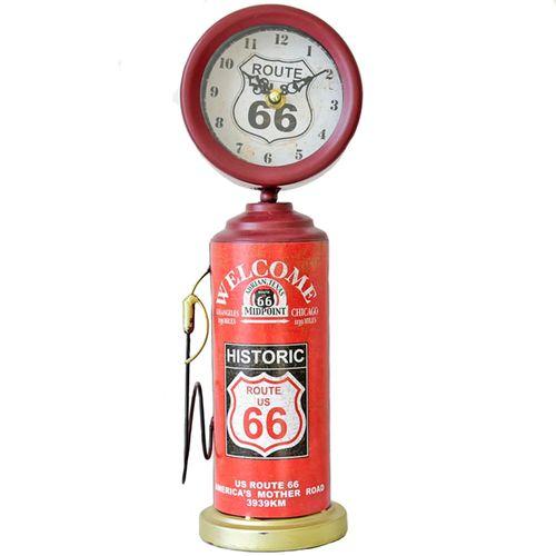Relogio-De-Mesa-Bomba-De-Combustivel-Historic-Route-66-Retro