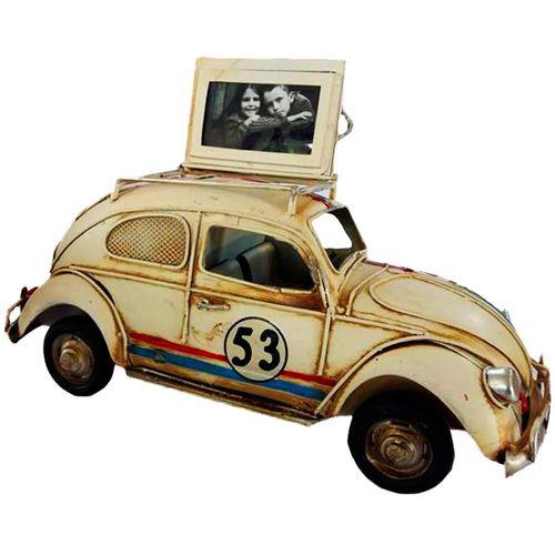 Miniatura-Decorativa-Porta-Retrato-E-Cofre-De-Moedas-Fusca-Herbie-Creme---Un