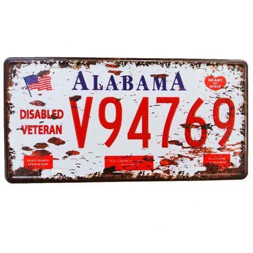 Placa-De-Carro-Decorativa-Em-Alto-Relevo-Alabama