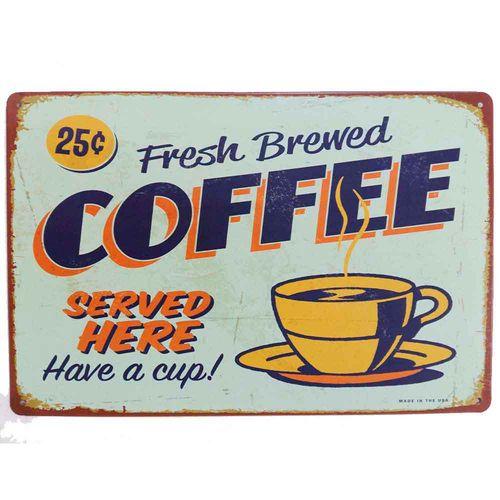 Placa-De-Metal-Decorativa-Coffee-Served-Here