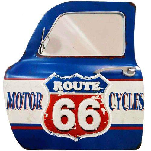Porta-De-Carro-Decorativa-Com-Espelho-Motor-Cycles-Azul