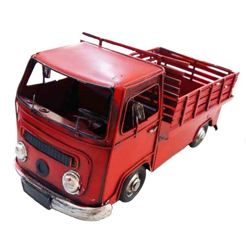Miniatura-Kombi-Pick-Up-Vermelha