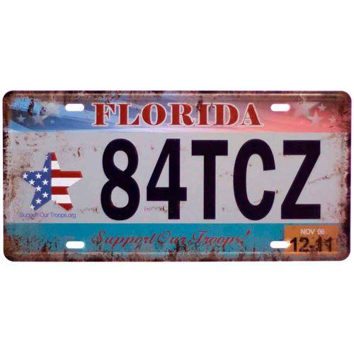 Placa-De-Carro-Decorativa-Em-Alto-Relevo-Florida