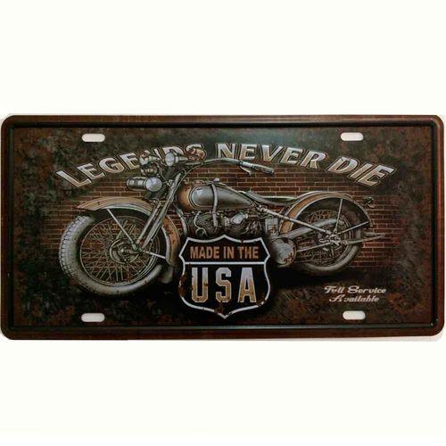 Placa-De-Carro-Decorativa-Em-Alto-Relevo-Legends-Never-Die