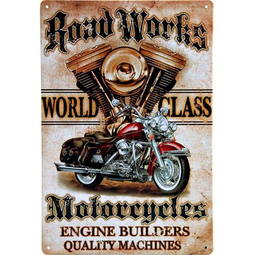 placa-de-metal-road-works-cod-458101