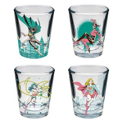 Conj-Shot-4-Pecas-Dc-Comics-Super-Heroinas