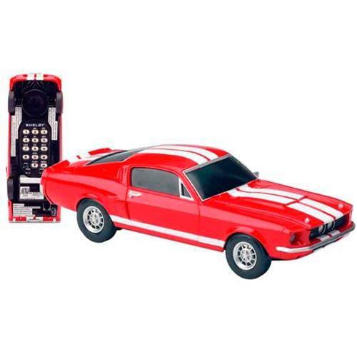 Telefone-De-Mesa-Mustang-Shelby-Vermelho-Oficial-Ford