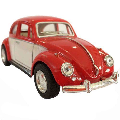Miniatura-Fusca-1967-Escala-1-32-Vermelho-E-Branco