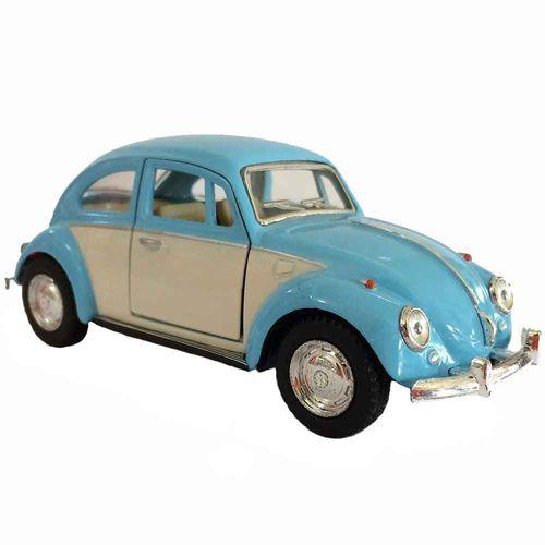 Miniatura-Fusca-1967-Escala-1-32-Azul-E-Branco