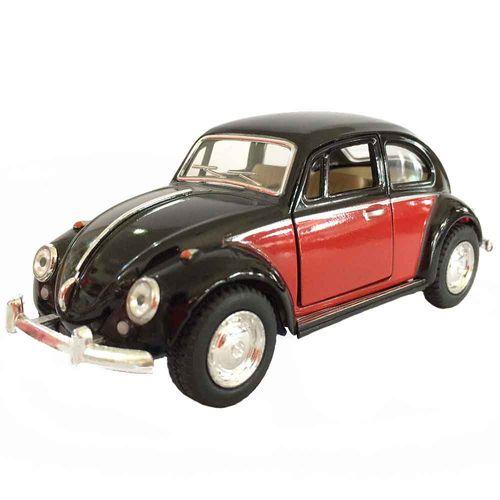 Miniatura-Fusca-1967-Escala-1-32-Preto-E-Vermelho