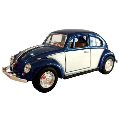 Miniatura-Fusca-1967-Escala-1-32-Azul-Marinho-E-Branco