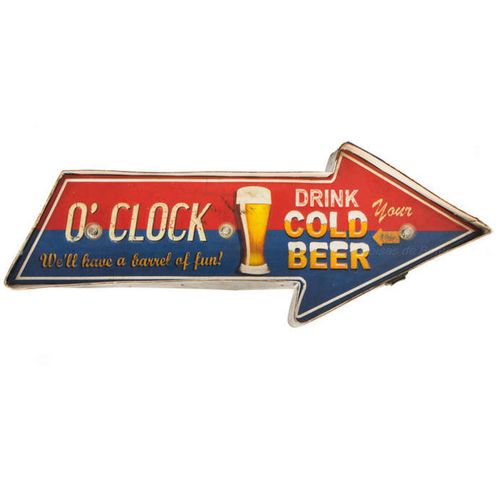 Placa-Luminosa-A-Pilha-Retro-Drink-Cold-Beer