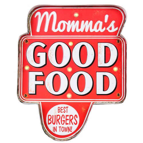 Placa-Luminosa-A-Pilha-Retro-Mamma-s-Good-Food