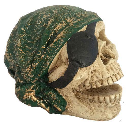 Caveira-Decorativa-Gesso-Pirata-Verde