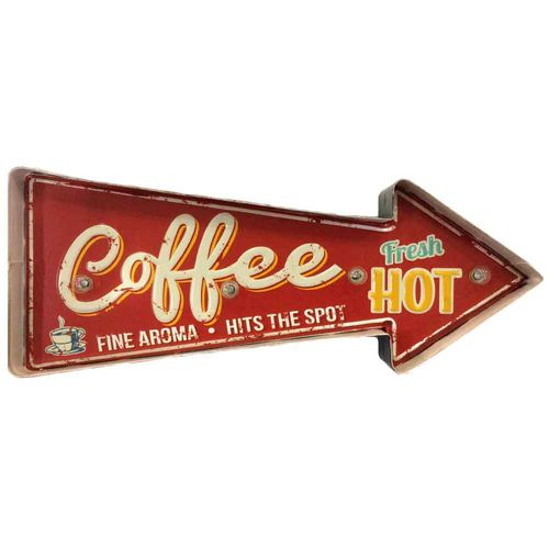 Placa-Luminosa-A-Pilha-Retro-Hot-Coffee