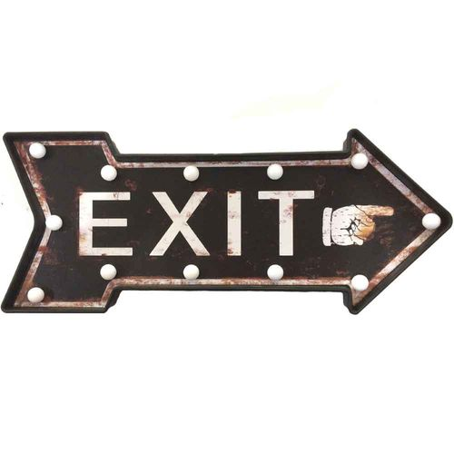 Placa-Luminosa-A-Pilha-Retro-Seta-Exit