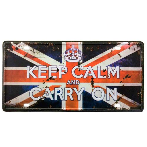 Placa-De-Metal-Decorativa-Keep-Calm-And-Carry-On