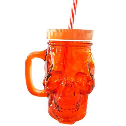 copo-de-vidro-com-canudo-caveira-laranja-cod-538501