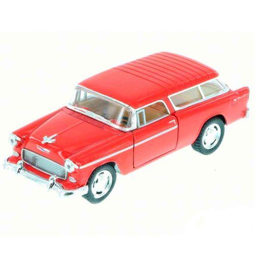 Miniatura-1955-Chevy-Bel-Air-Nomad-Escala-1-40-Vermelho