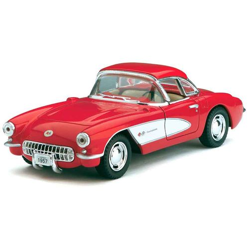 Miniatura-1957-Chevrolet-Corvette-Escala-1-34-Vermelho