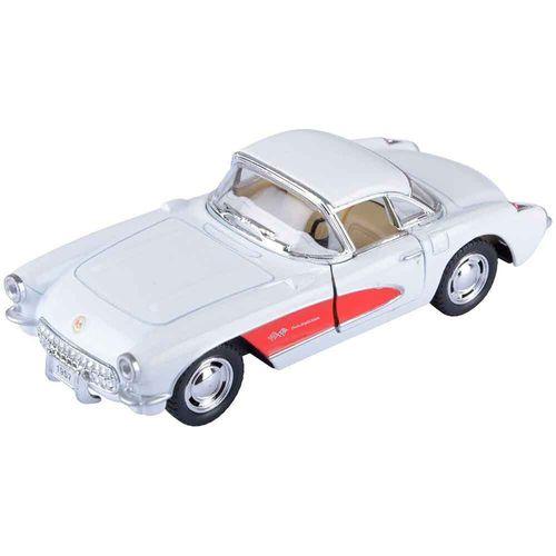 Miniatura-1957-Chevrolet-Corvette-Escala-1-34-Branco