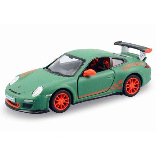 Miniatura-2010-Porsche-Cayman-S-911-Gt3-Rs-Escala-1-36-Verde