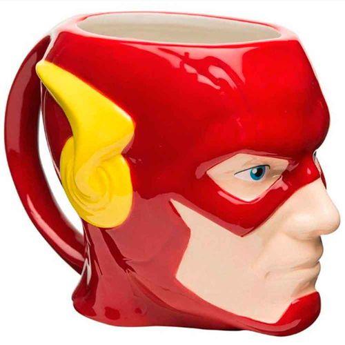 Caneca-De-Porcelana-3d-Dc-Comics-Flash-Vermelho-Face-312ml