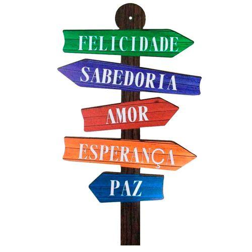 Placa-Decorativa-Mdf-Indicacao-Felicidade-Recorte-Verde---Unica