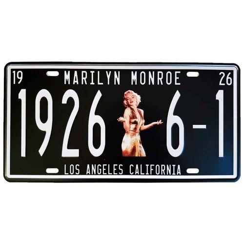 Placa-De-Carro-Decorativa-Em-Alto-Relevo-Marilyn-Monroe-Preta---Unica