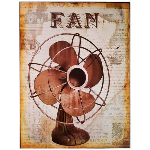 Placa-De-Metal-Vintage-Fan