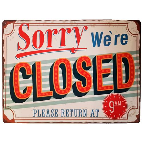 placa-de-metal-sorry-were-closed-cod-569801