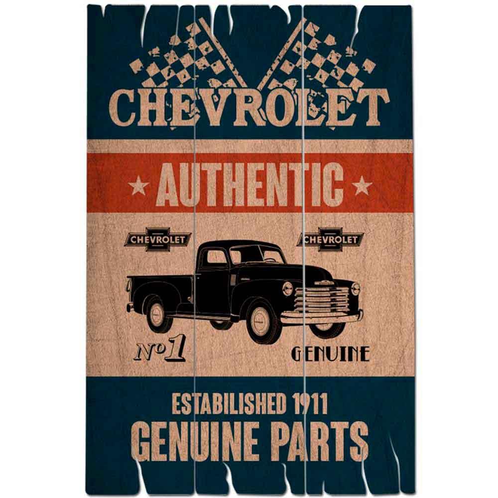 Placa-de-Madeira-Pick-up-Truck-Chevrolet-Retro------------------------------------------------------