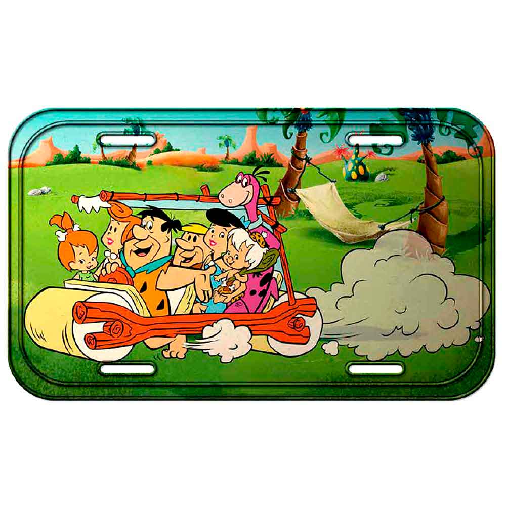 Placa-Metal-Os-Flintstones--------------------------------------------------------------------------