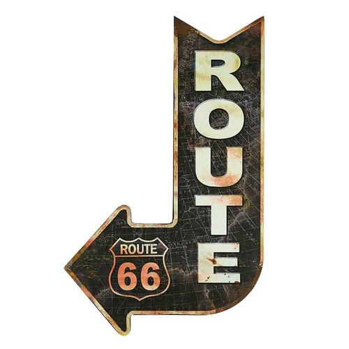 Placa-Seta-Route-66---------------------------------------------------------------------------------