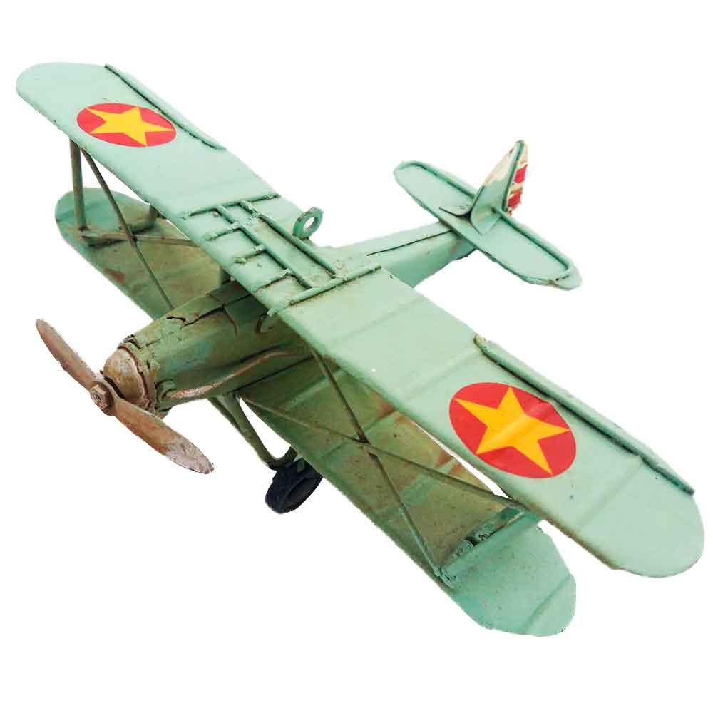 Miniatura-Aeronave-Breguet-14-Frances-1ª-GGM-Azul---------------------------------------------------